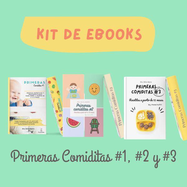 Imagem principal do produto Kit de Ebooks Primeras Comiditas #1, #2, #3 - Con precio promocional