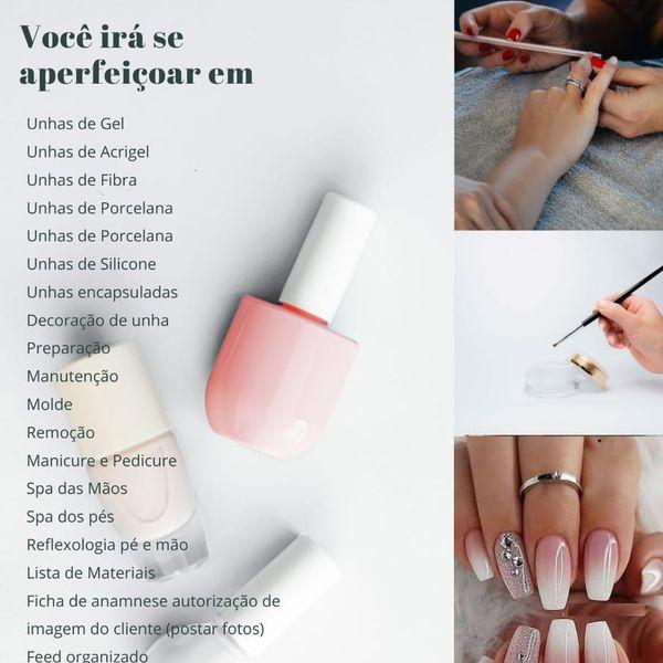 Imagem principal do produto 20 apostilas para nail designer  + 7 pdfs brindes
