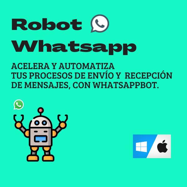 Imagem principal do produto Automatiza con RobotWhatsapp