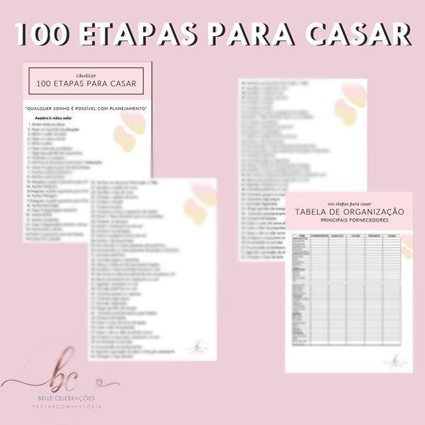 Imagem principal do produto LISTA 100 ETAPAS PARA CASAR