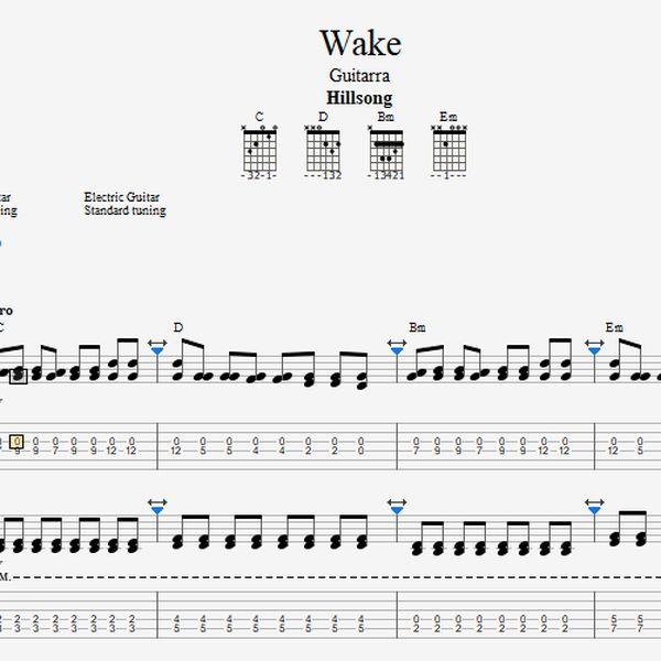 Imagem principal do produto Desperta / Wake - Tablatura de guitarra (Linha 1 e 2)