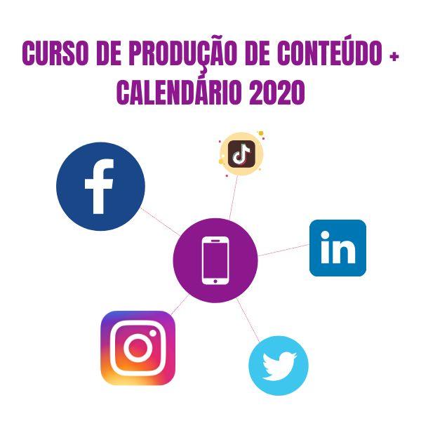 Imagem principal do produto CALENDÁRIO E PLANEJAMENTO DE CONTEÚDO PARA REDES SOCIAIS 2020
