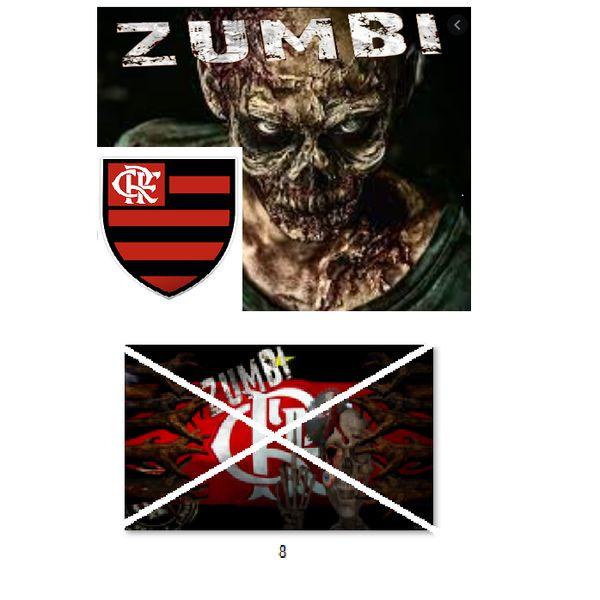 Imagem principal do produto Flamengo no estilo zumbi para estampar camisetas da catástrofe 8