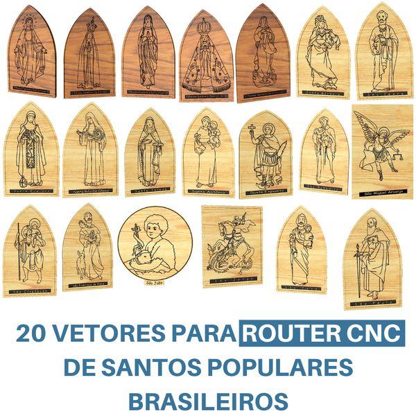 Imagem principal do produto 20 Vetores Santos Populares Para Router CNC