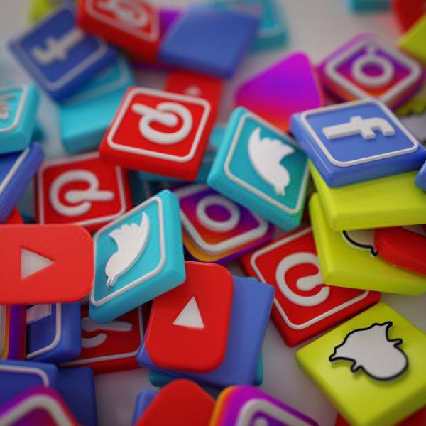 Imagem principal do produto Ícones em 3D para social media