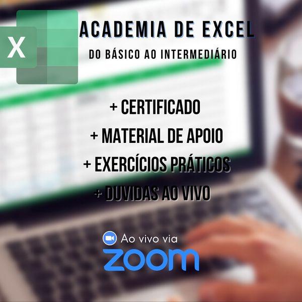 Imagem principal do produto Academia de Excel - Básico ao Intermediário 4
