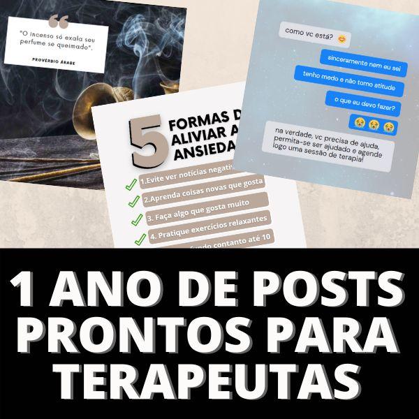 Imagem principal do produto 1 ANO DE POSTS PRONTOS PARA TERAPEUTAS