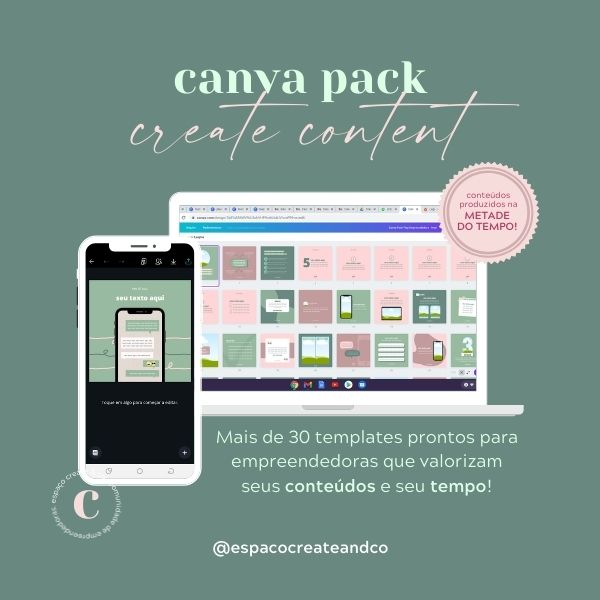 Imagem principal do produto Canva Pack Create Content