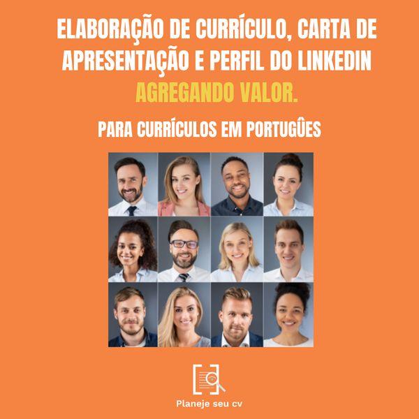 Imagem principal do produto Elaboração de Currículos, Carta de Apresentação e Perfil de Linkedin (Português)