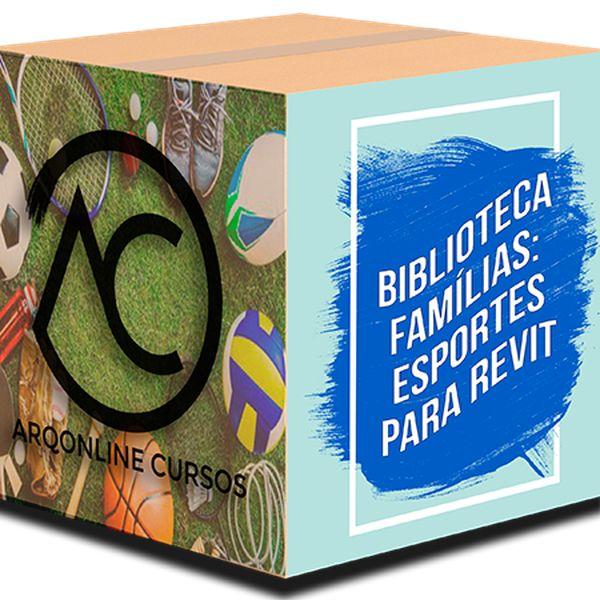 Imagem principal do produto Biblioteca Famílias Revit - Esportes