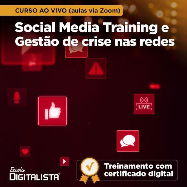 Imagem principal do produto Curso ao vivo Social Media Training e Gestão de crise nas redes