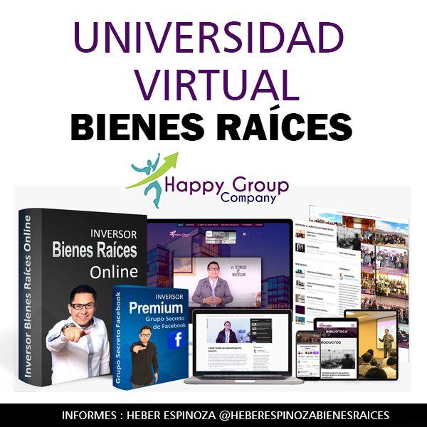 Imagem principal do produto Universidad Virtual de Bienes Raíces Versión 2020 - (25 Súper Técnicas por Heber Espinoza)