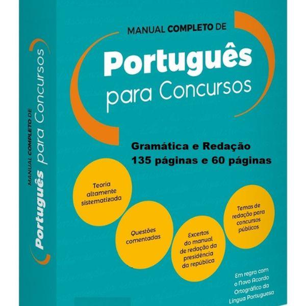 Imagem principal do produto Curso de Português e Redação para Concursos Públicos