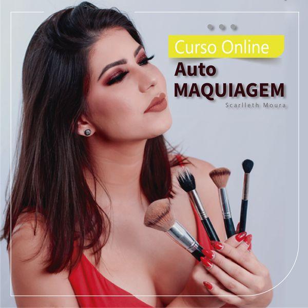 Imagem principal do produto CURSO ON-LINE DE AUTOMAQUIAGEM COM SCARLLETH MOURA