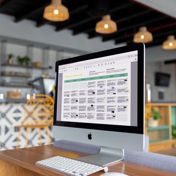 Imagem principal do produto Calendario de stories mensual para aumentar tu engagement en Instagram