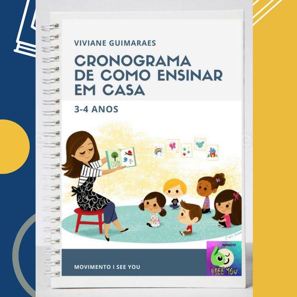 Imagem principal do produto CRONOGRAMA DE COMO ENSINAR EM CASA 3-4 ANOS