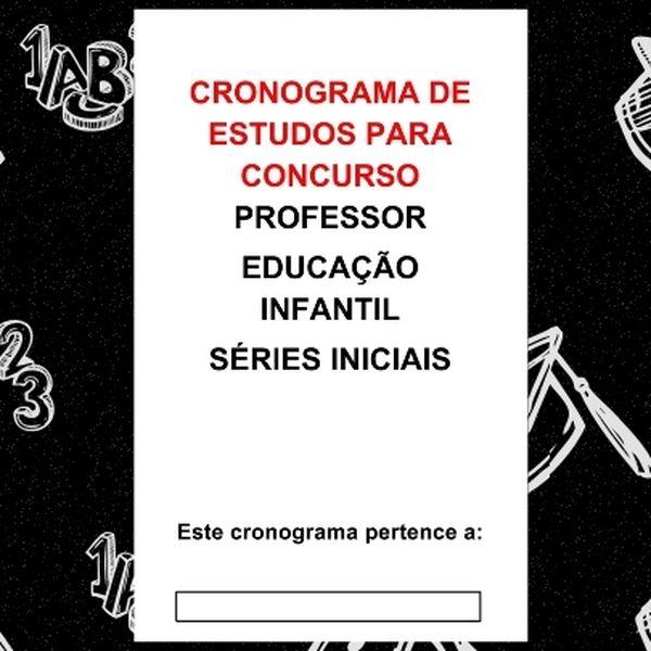Imagem principal do produto CRONOGRAMA DE ESTUDOS (Concurso Pedagogo)