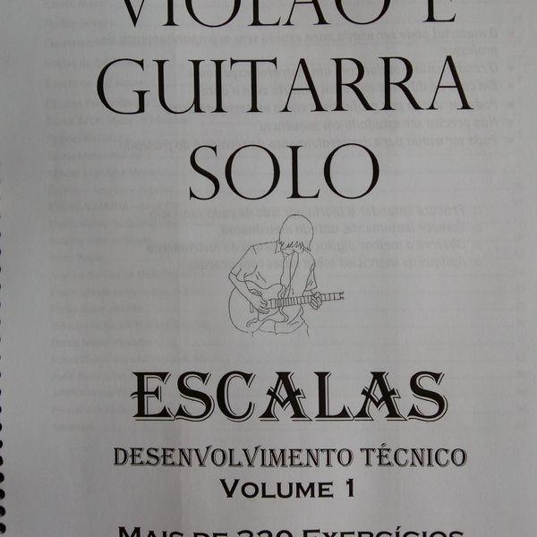 Imagem principal do produto Estudos em Escalas para violão e Guitarra