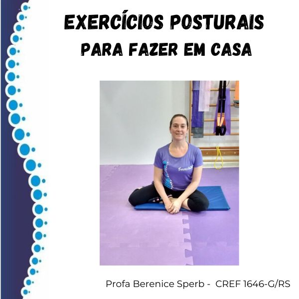 Imagem principal do produto EXERCÍCIOS POSTURAIS PARA FAZER EM CASA