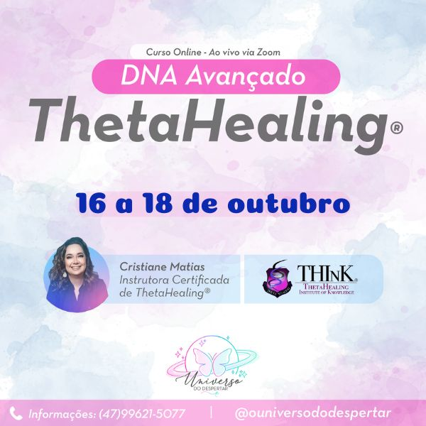 Imagem principal do produto Curso ThetaHealing® DNA Avançado