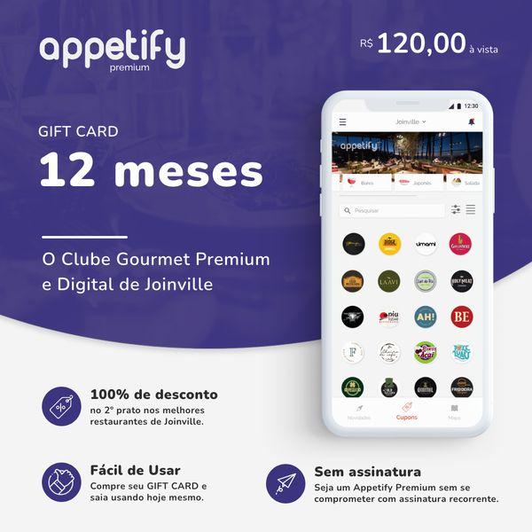 Imagem principal do produto 12 MESES de acesso ao Appetify Premium