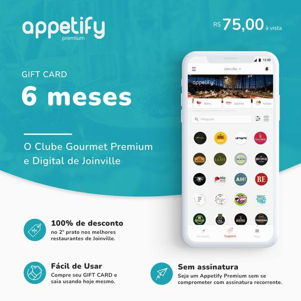 Imagem principal do produto 6 MESES de acesso ao app Appetify Premium