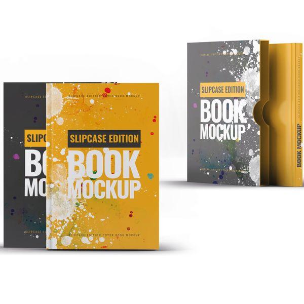 Imagem principal do produto Capa e-Book Magnético - Kit 2 Book Cover Mockups #12 - PSD 100% Editável