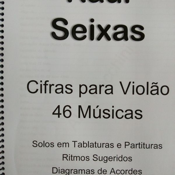 Imagem principal do produto Cifras e Solos de Raul Seixas para Violão 46 Músicas