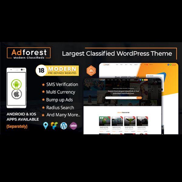 Imagem principal do produto AdForest - Tema de WordPress para anuncios clasificados