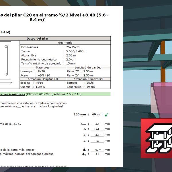 Imagem principal do produto Gestiona tus Memorias de Calculo automáticas en CYPECAD 2021