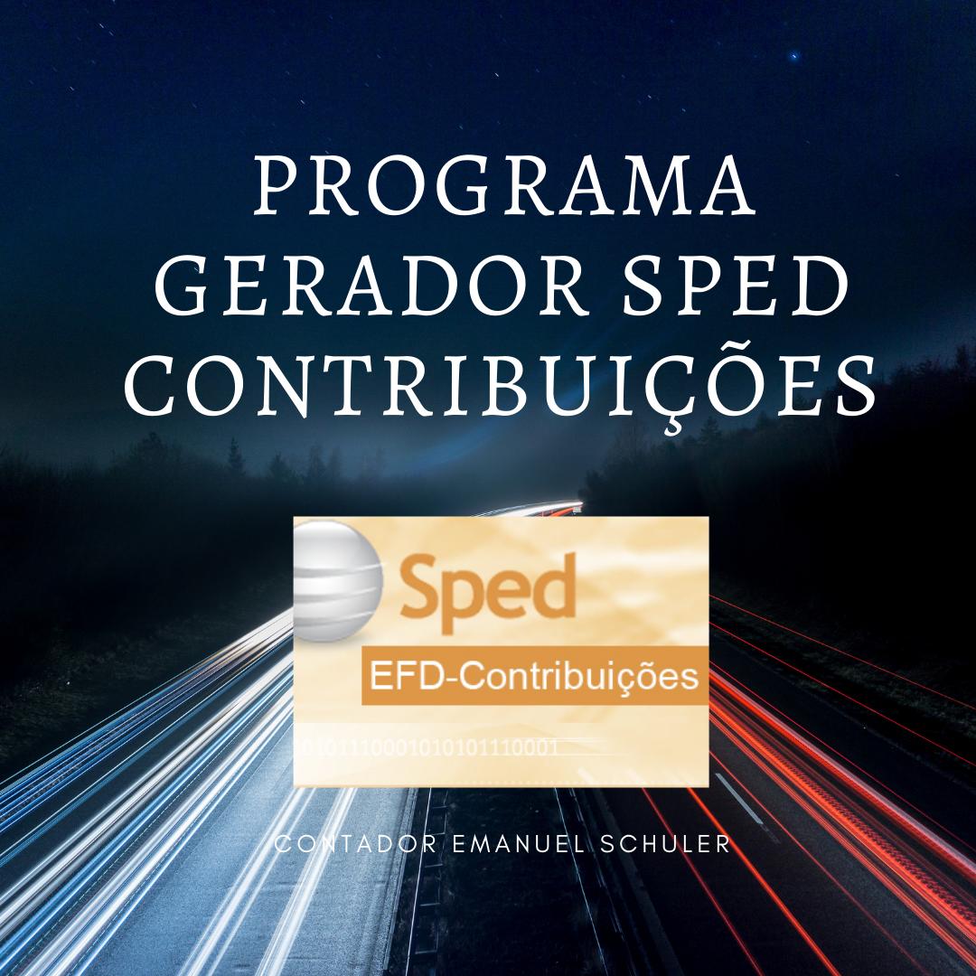Gerador de Sped Contribuicoes
