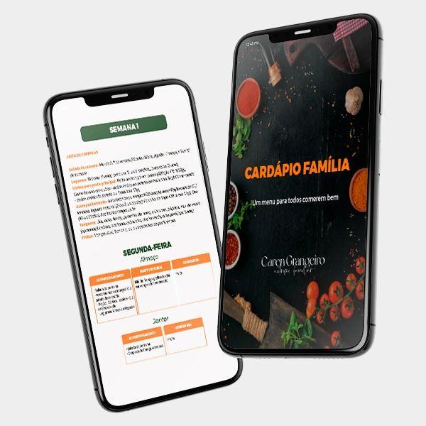 Imagem principal do produto Cardápio Família - Um menu para todos comerem bem.