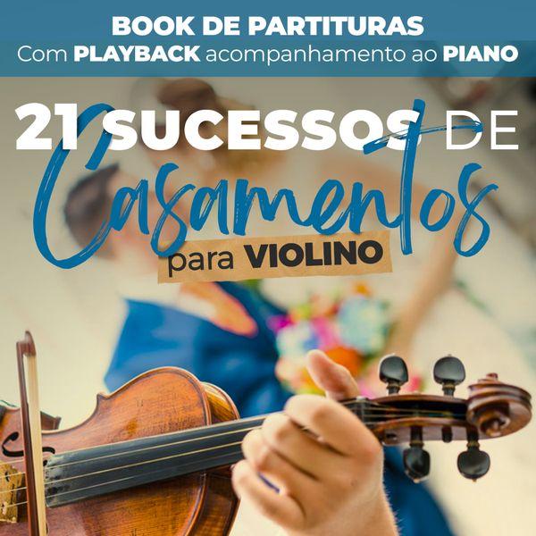 Imagem principal do produto Book de Partituras para Casamento - Violino - Volume 1