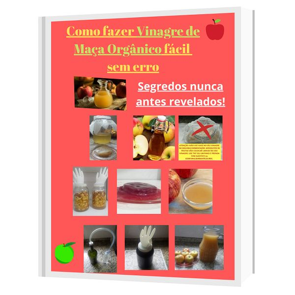 Imagem principal do produto Como fazer Vinagre de Maça Orgânico  sem erro