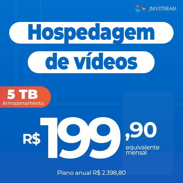 Imagem principal do produto Hospedagem de vídeos online - Armazene seus vídeos com segurança - VOD - Plataforma de hospedagem de vídeos com o melhor custo x benefício no quesito espaço em disco do mercado.