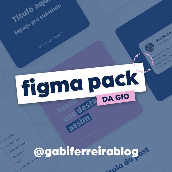 Imagem principal do produto Pack de Templates - @gabiferreirablog