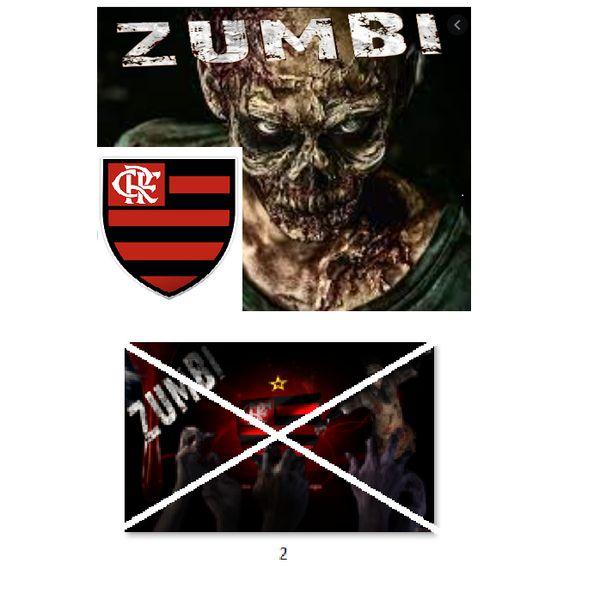 Imagem principal do produto Flamengo no estilo zumbi para estampar camisetas da catástrofe 2