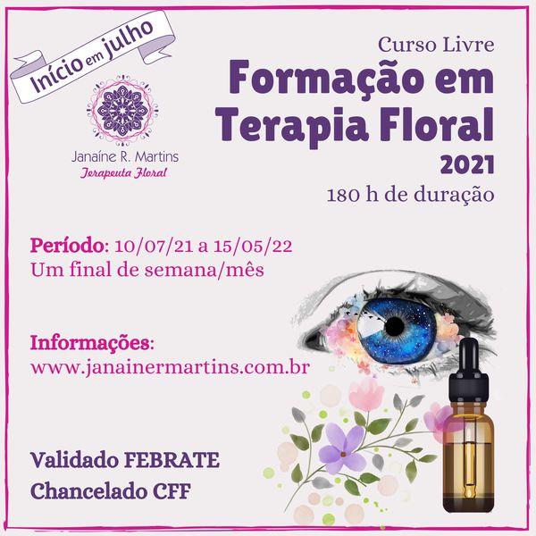 Imagem principal do produto Curso Formação em Terapia Floral com Janaíne R. Martins
