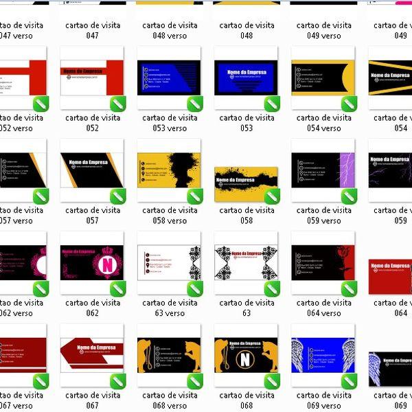 Imagem principal do produto cartões de visita editáveis frente e verso 70 cartões