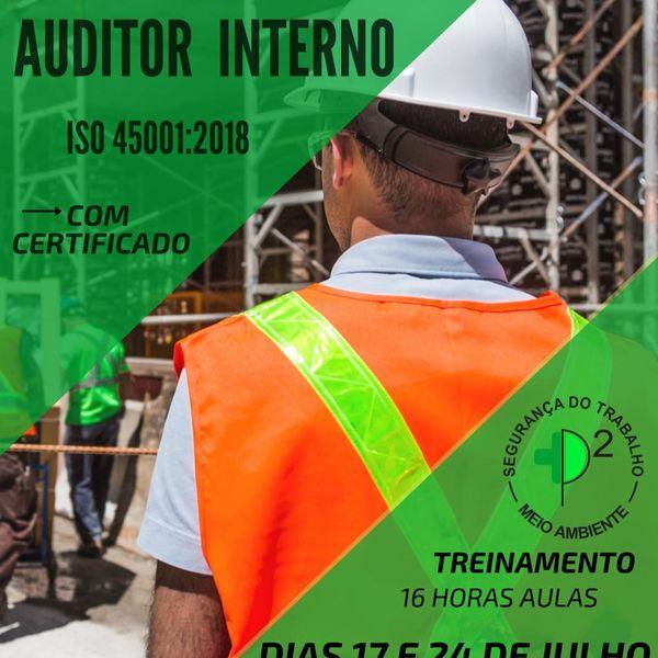 Imagem principal do produto Curso: Auditor Interno ISO45001:2018