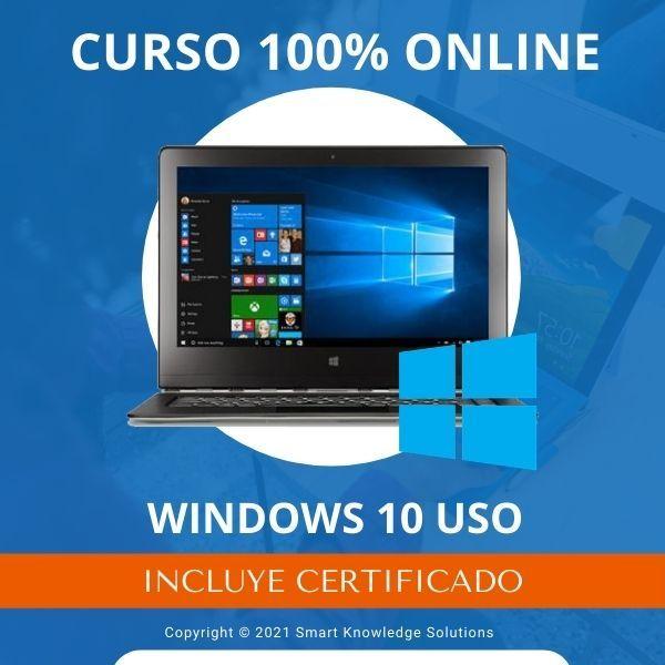 Imagem principal do produto Curso completo 100% Online de Windows 10 USO incluye libro y certificado