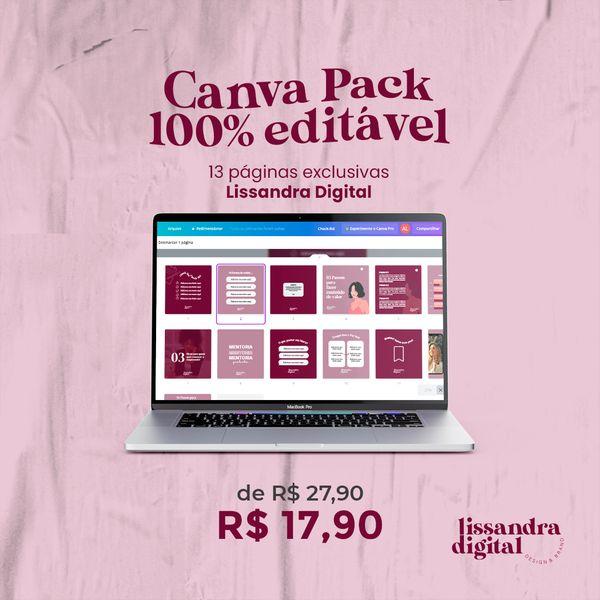 Imagem principal do produto Canva Pack 100% Editável
