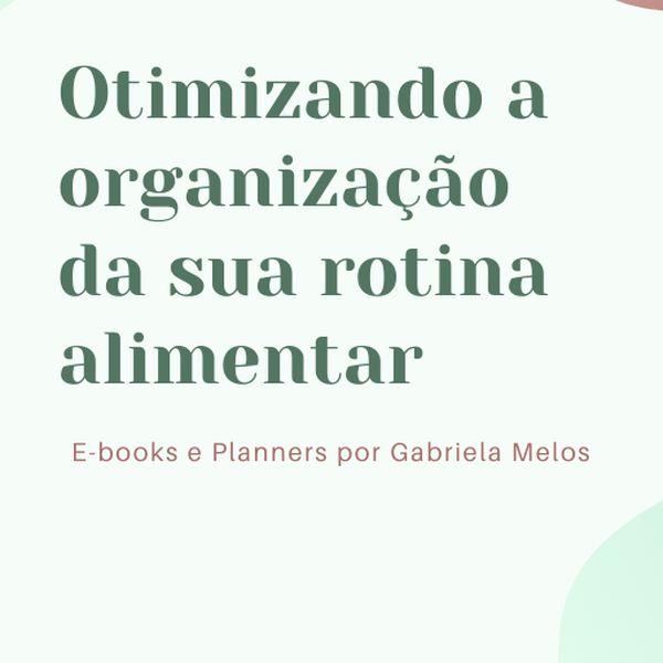 Imagem principal do produto Ebooks Organizando a Rotina Alimentar