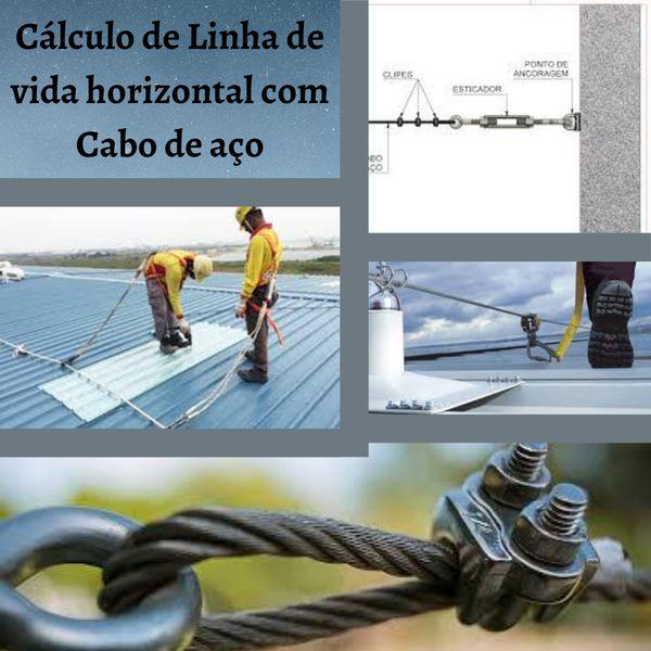 Imagem principal do produto Calculo de Linha de vida horizontal com Cabo de aço