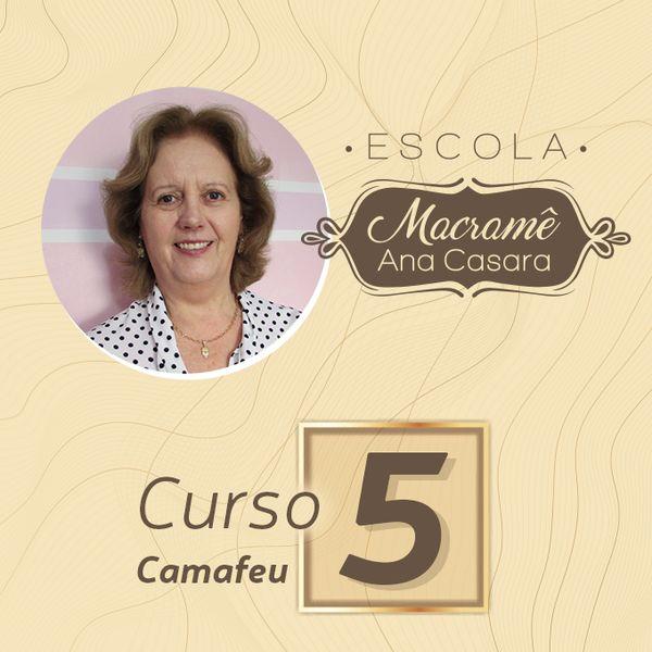Imagem principal do produto Escola de macramê - Curso 5 - Camafeu