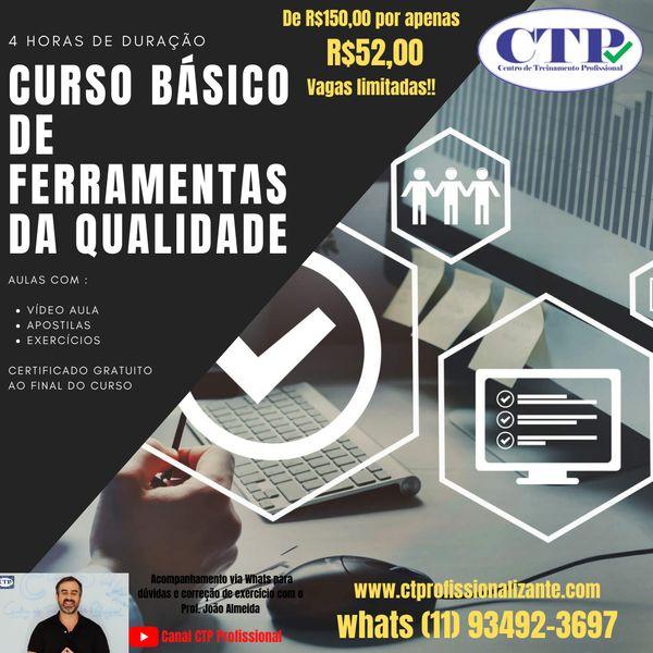 Imagem principal do produto CURSO DE FERRAMENTAS DA QUALIDADE