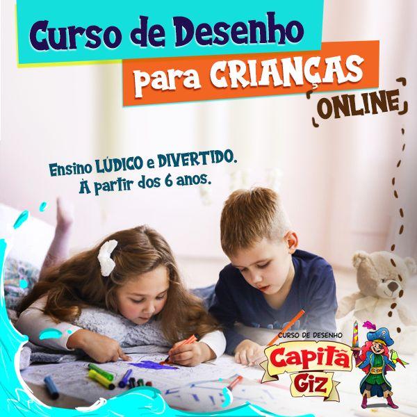 Imagem principal do produto CURSO DE DESENHO PARA CRIANÇAS. Online.