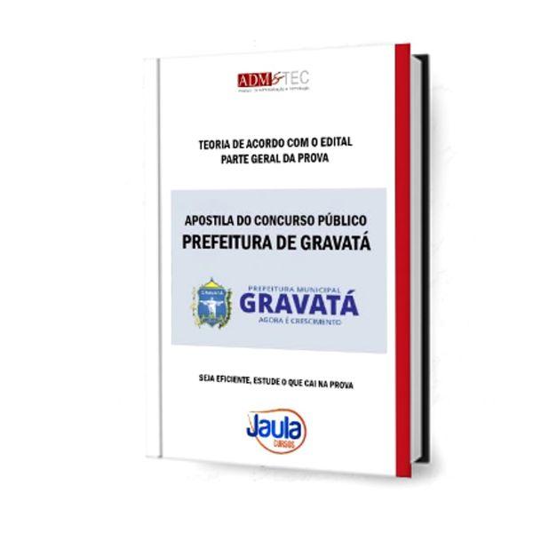Imagem principal do produto GRAVATÁ - APOSTILA DO CONCURSO
