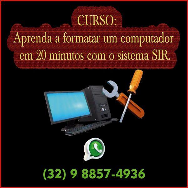 Imagem principal do produto Curso, aprenda a formatar seu computador em menos de 20 minutos.