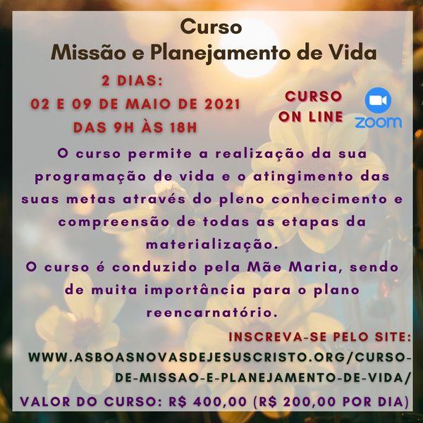 Imagem principal do produto Curso Missão e Planejamento de Vida
